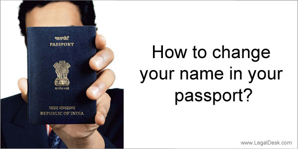 How To Change Name In Indian Passport