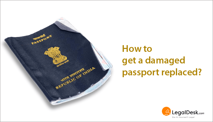 Procedure to replace damaged passport for Documents you need for passport