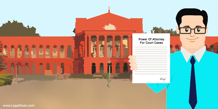 Power Of Attorney for court cases
