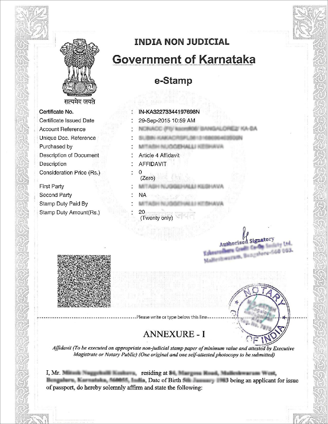 How to create an affidavit in india affidavit 1 affidavit 2 yadclub Images