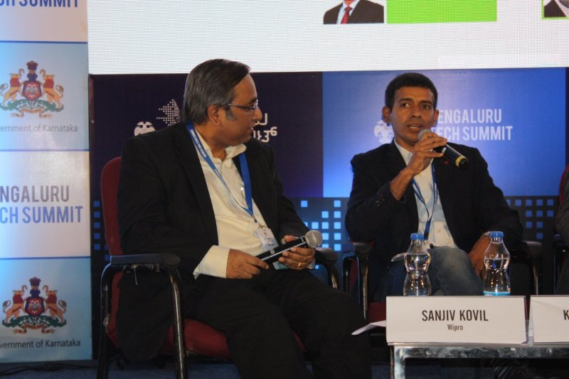 Legaldesk founder, Kupesh Bhat at the Bengaluru Tech Summit 2017 in the Blockchain Panel Discussion recently