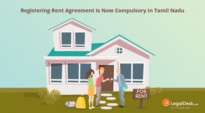 Registering Rent Agreement is Now Compulsory in Tamil Nadu